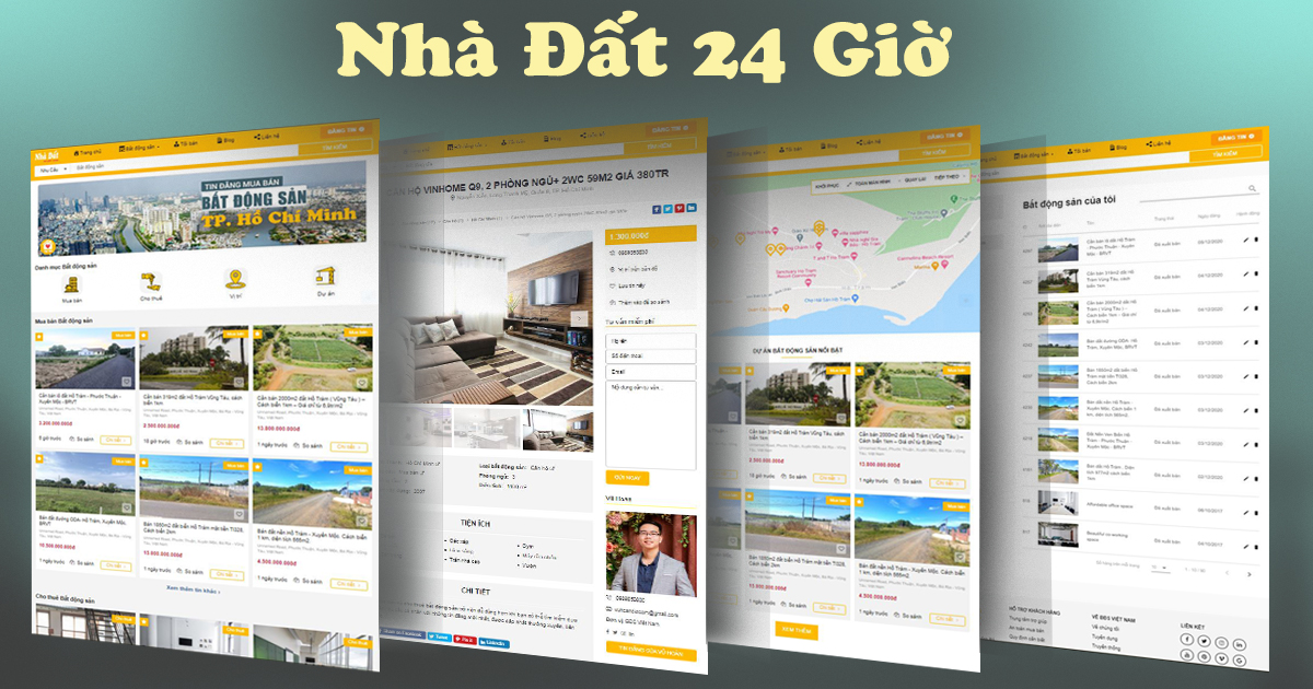 Nhà đất 24 giờ website bất động sản hàng đầu VN