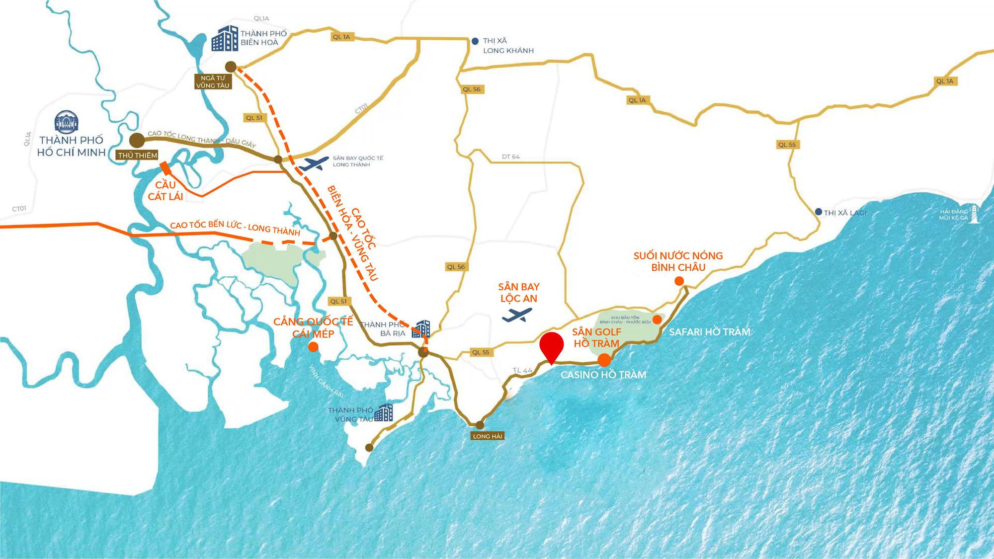 tiềm năng về bất động sản và lượng tin đăng mua bán đất Hồ Tràm tăng mạnh